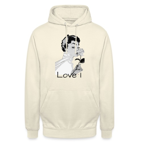 Love I - Sweat-shirt à capuche unisexe