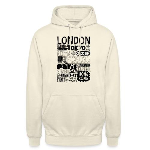 Villes du monde - Sweat-shirt à capuche unisexe