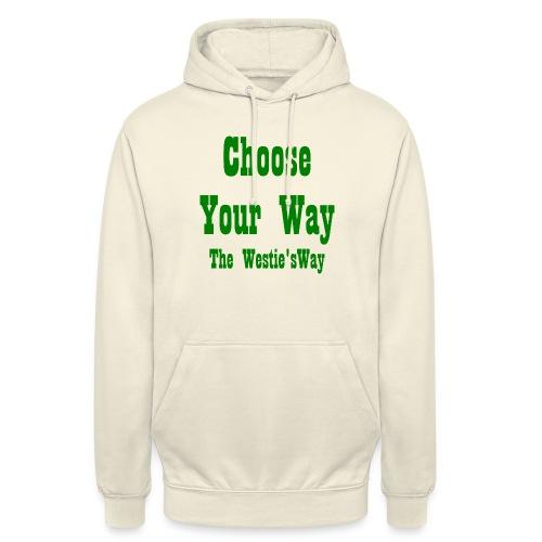 Choose Your Way Green - Bluza z kapturem typu unisex