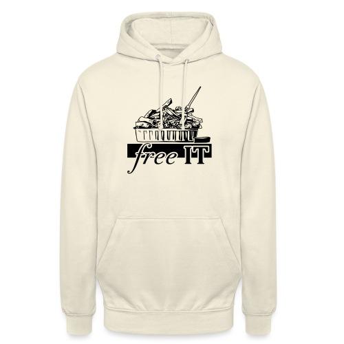 free it - Sweat-shirt à capuche unisexe