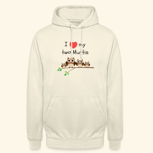 I love my two Muttis - Sweat-shirt à capuche unisexe