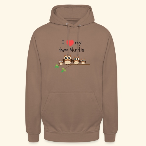 I love my two Muttis - Sweat-shirt à capuche unisexe
