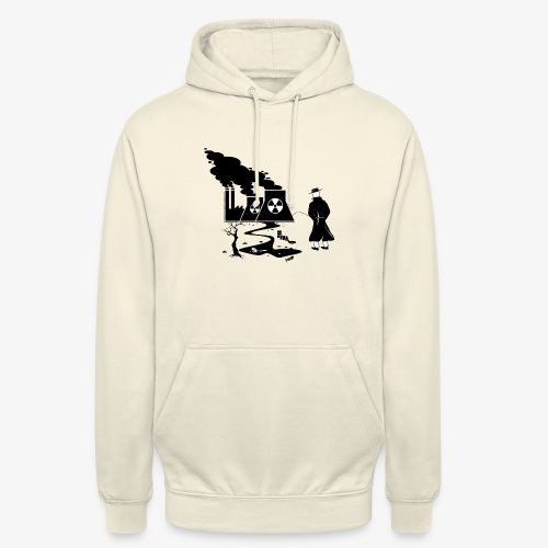 Pissing Man against environmental pollution - Unisex Hoodie
