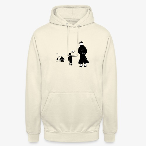Pissing Man against wrong social action - Unisex Hoodie