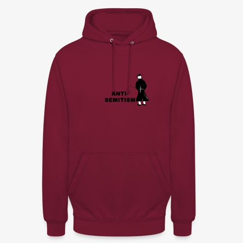 Pissing Man against anti-semitism - Unisex Hoodie