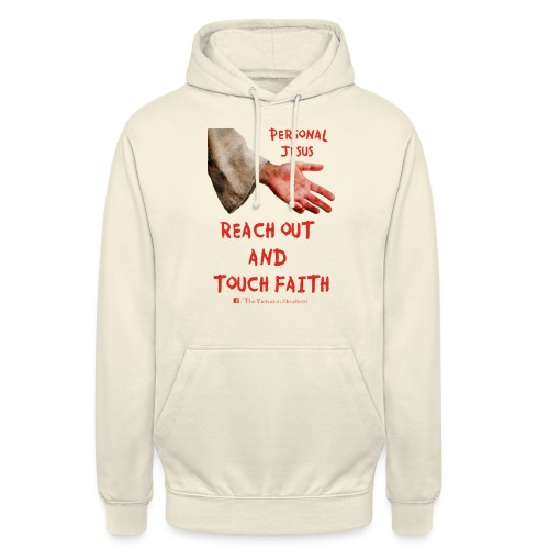 Reach out and touch faith trans gif - Unisex Hoodie
