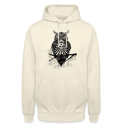 Hibou Psychédélique - Sweat-shirt à capuche unisexe