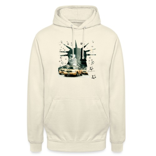 NYC - Lady liberty and the yellow cabs - Unisex Hoodie