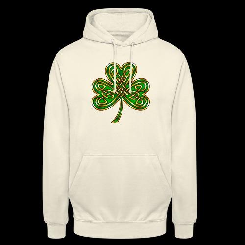 Celtic Knotwork Shamrock - Unisex Hoodie