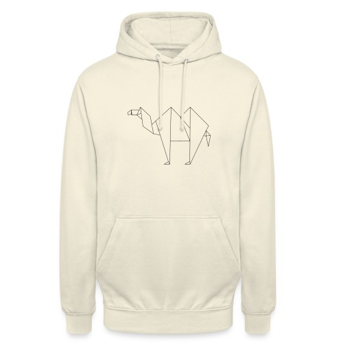 camel trace 1 origami - Sweat-shirt à capuche unisexe