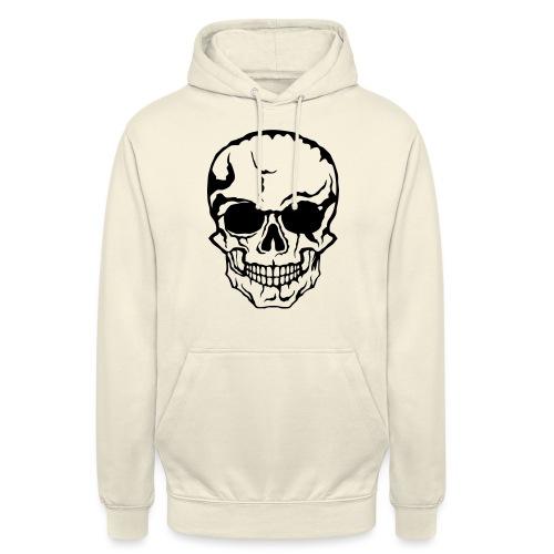 tete de mort halloween horreur dessin 21 - Sweat-shirt à capuche unisexe