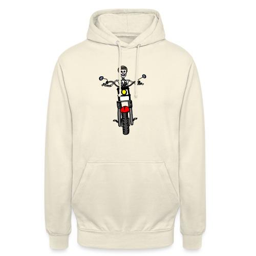 calavera moto - Sudadera con capucha unisex