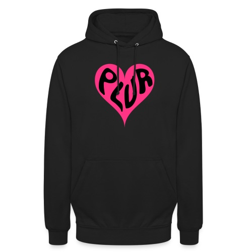 PLUR - Peace Love Unity and Respect love heart - Unisex Hoodie