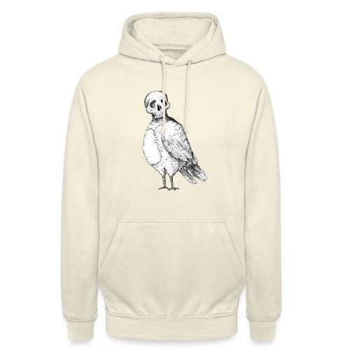 skull bird White alpha - Sweat-shirt à capuche unisexe