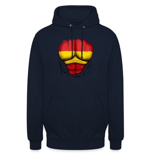 España Flag Ripped Muscles six pack chest t-shirt - Unisex Hoodie
