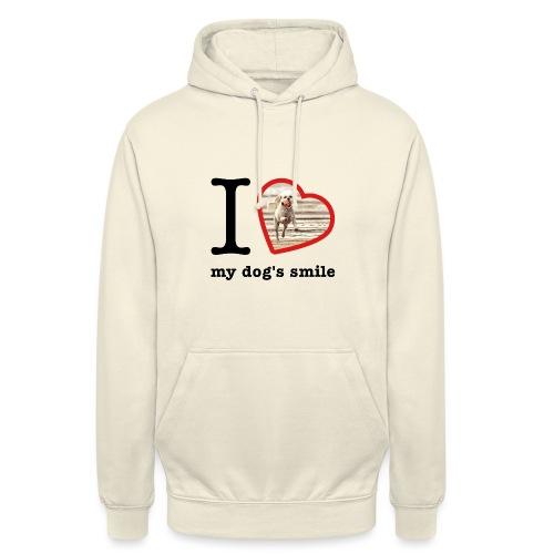I love my dog's smile :) dog smile - Unisex Hoodie