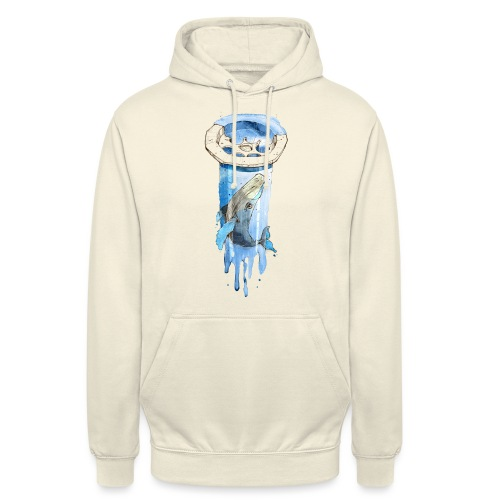 Wal im Abfluss (Whale in the Drain) - Unisex Hoodie