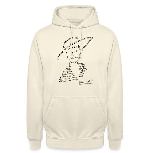 calligramme - Lou au chapeau - Sweat-shirt à capuche unisexe