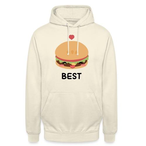 hamburger - Felpa con cappuccio unisex