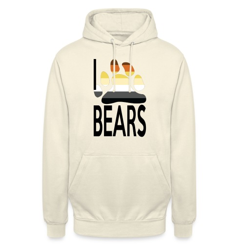 I love bears - Sweat-shirt à capuche unisexe
