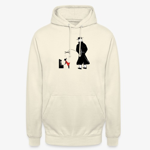 Pissing Man against forced prostitution - Unisex Hoodie