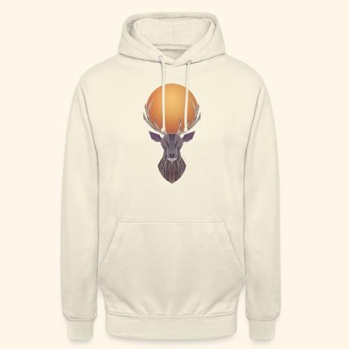 Roi Cerf Cendre - Sweat-shirt à capuche unisexe