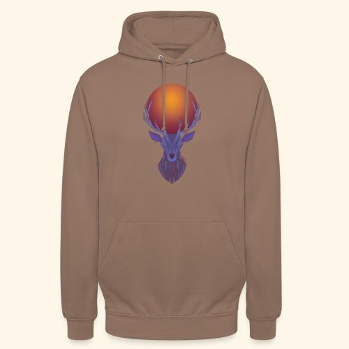 Roi Cerf Lunaire - Sweat-shirt à capuche unisexe