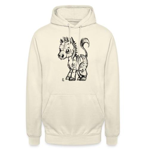 zebre - Sweat-shirt à capuche unisexe