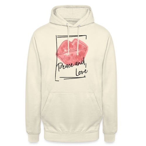 PEACE AND LOVE - Unisex Hoodie