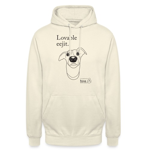 Lovable eejit in black - Unisex Hoodie