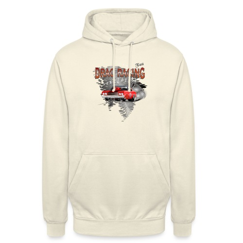 Dragster / Drag Racing Motiv mit Chevy Chevelle - Unisex Hoodie