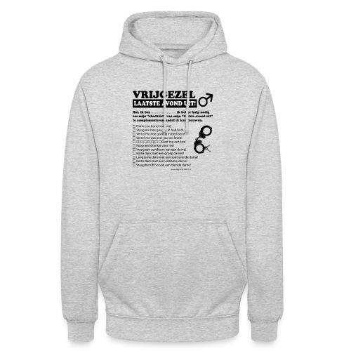 Vrijgezellenshirt man - Hoodie unisex