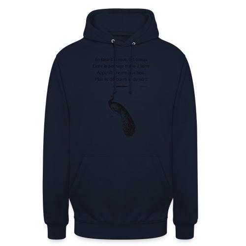 Le Paon d'Apollinaire - Sweat-shirt à capuche unisexe