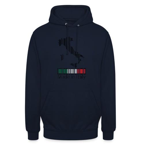 Made in Italy - Felpa con cappuccio unisex