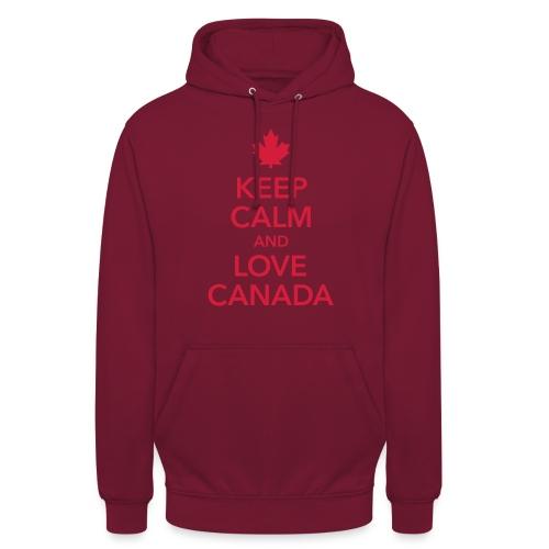 keep calm and love Canada Maple Leaf Kanada - Unisex Hoodie
