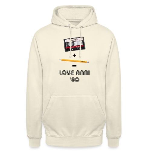 Maglietta love anni 80 - Felpa con cappuccio unisex