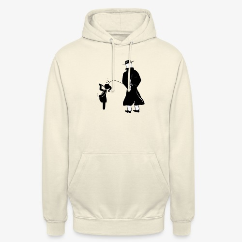 Pissing Man against irresponsible pregnancies - Unisex Hoodie