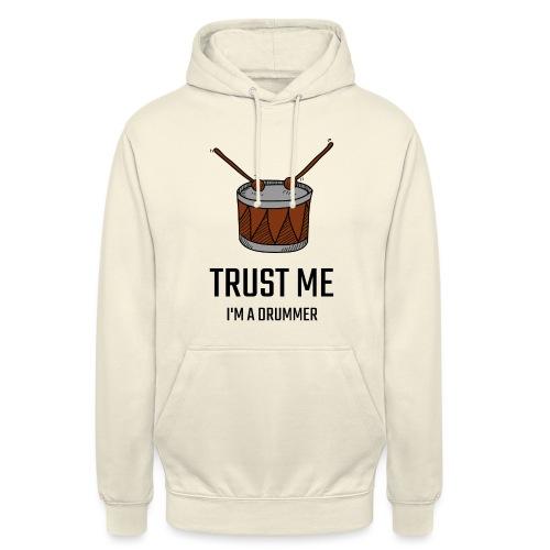 Trust me drum - Felpa con cappuccio unisex