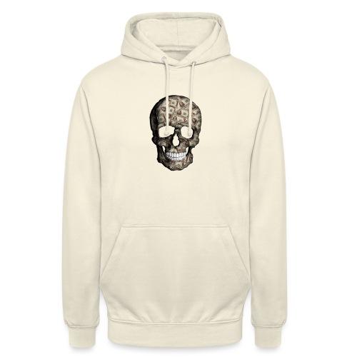 Skull Money Black - Sudadera con capucha unisex
