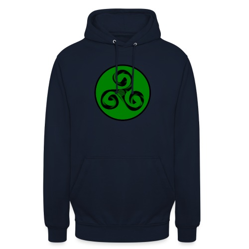 Triskel and Spiral - Sudadera con capucha unisex