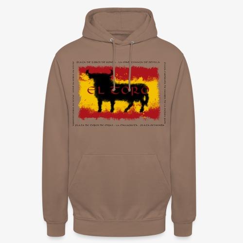 Spain Flag with bull - Unisex Hoodie