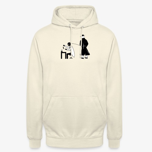 Pissing Man against animal testing. - Unisex Hoodie