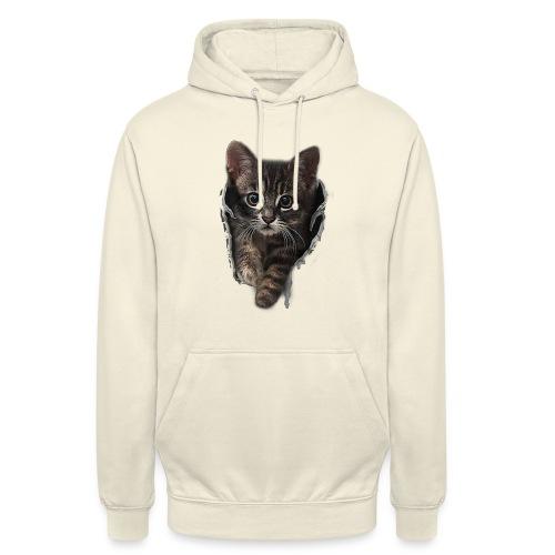 Vorschau: Katze Riss - Unisex Hoodie