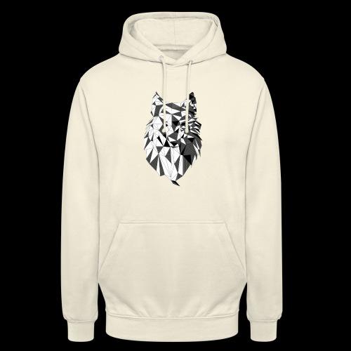 Polygoon wolf - Hoodie unisex