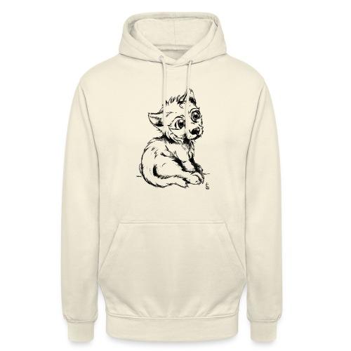 Louvetau - Sweat-shirt à capuche unisexe