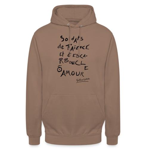 Calligramme - Soldat de faillance - Sweat-shirt à capuche unisexe