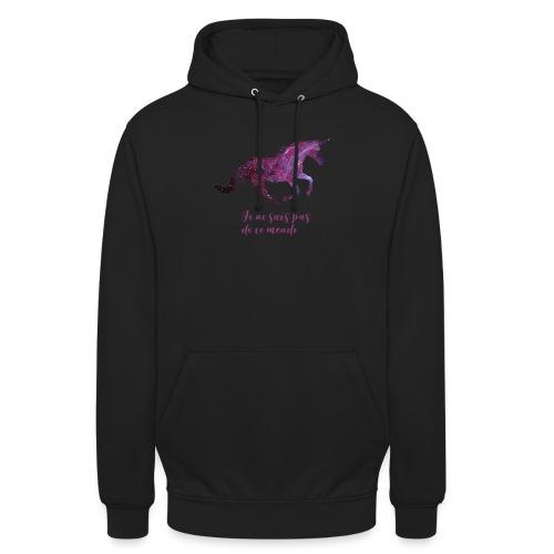 La licorne cosmique - Sweat-shirt à capuche unisexe