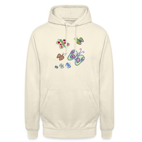 Allegria di farfalle - Felpa con cappuccio unisex