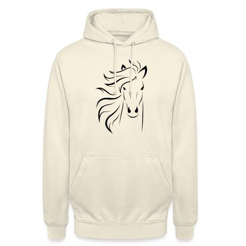 pferd silhouette - Unisex Hoodie