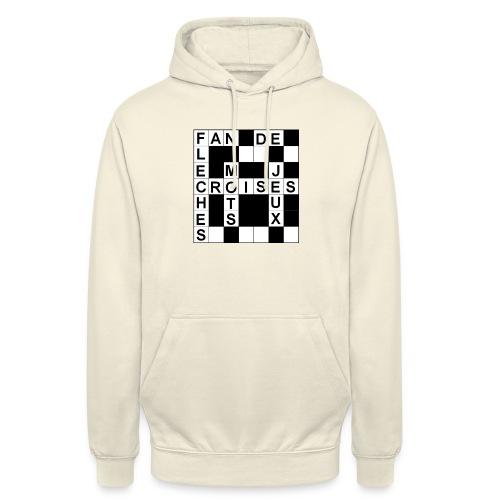 Fan de mots croisés - Sweat-shirt à capuche unisexe